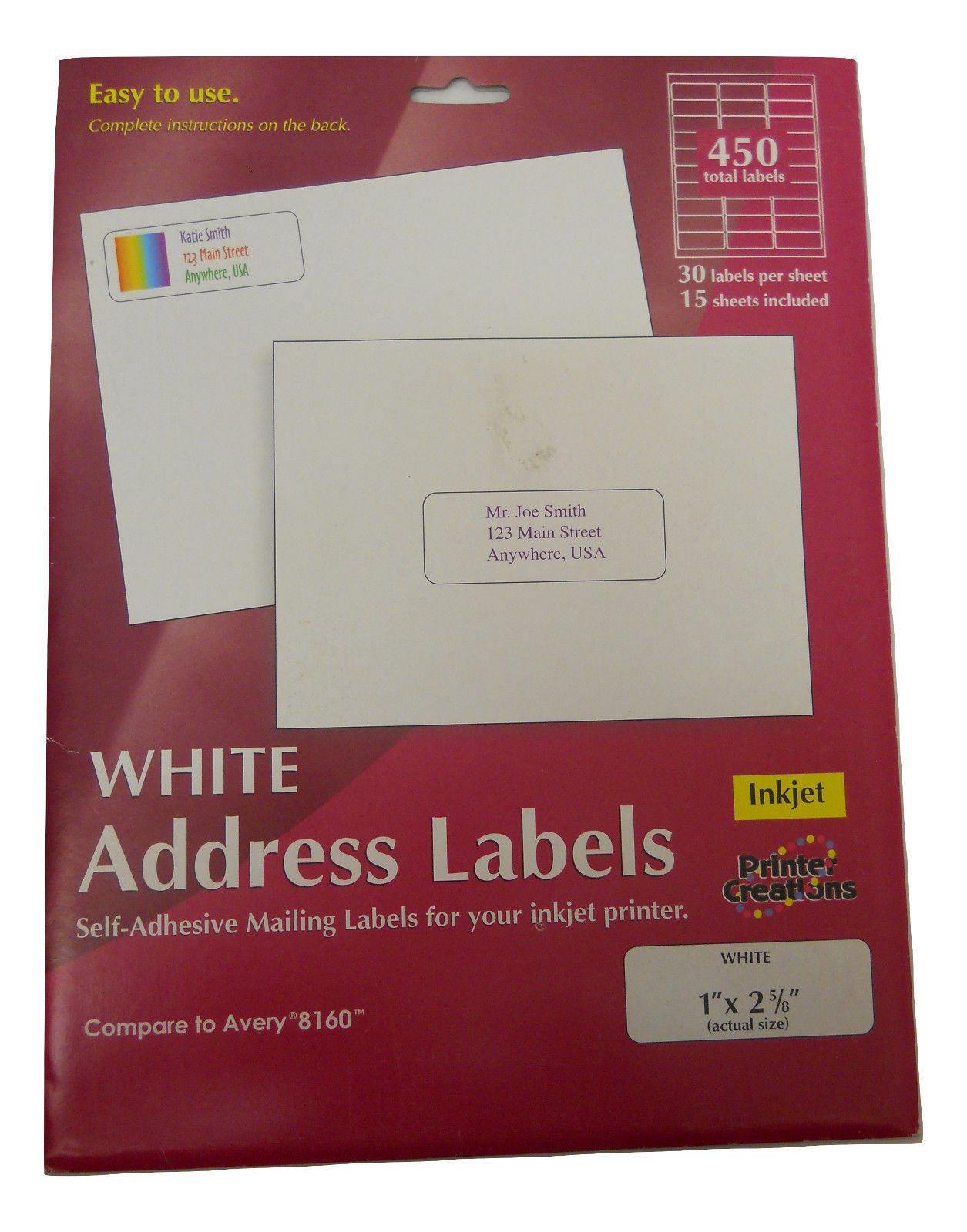 S 6000 Shipping Labels Self Adhesive Half Sheet 5 5 x 8 5