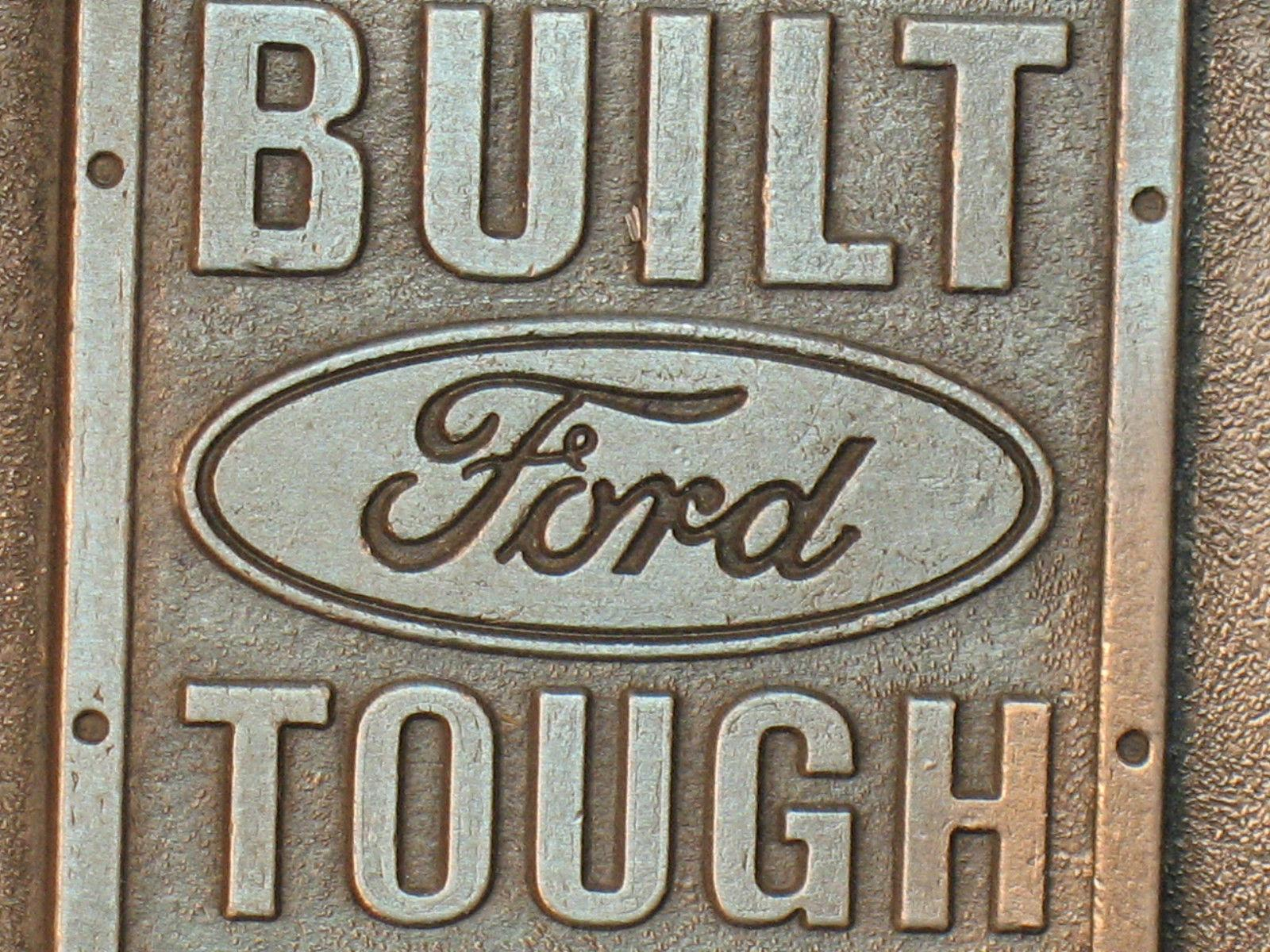 Vintage FORD Pewter Belt Buckle Built for Life in Canada