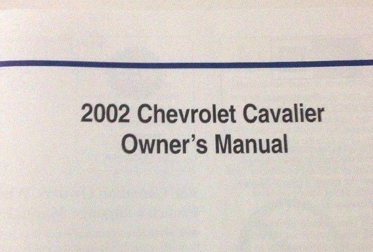2002 chevrolet chevy cavalier owners manual with case oem operators rh unisquare com 2000 Cavalier 2002 chevy cavalier owners manual