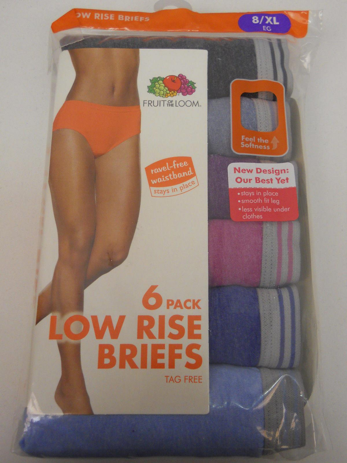3934f975fa20 Brief Panties 6 Pack Women Low Rise ASSORTED PLUS SIZE 8/XL FRUIT OF THE  LOOM For Sale - Item #1839150