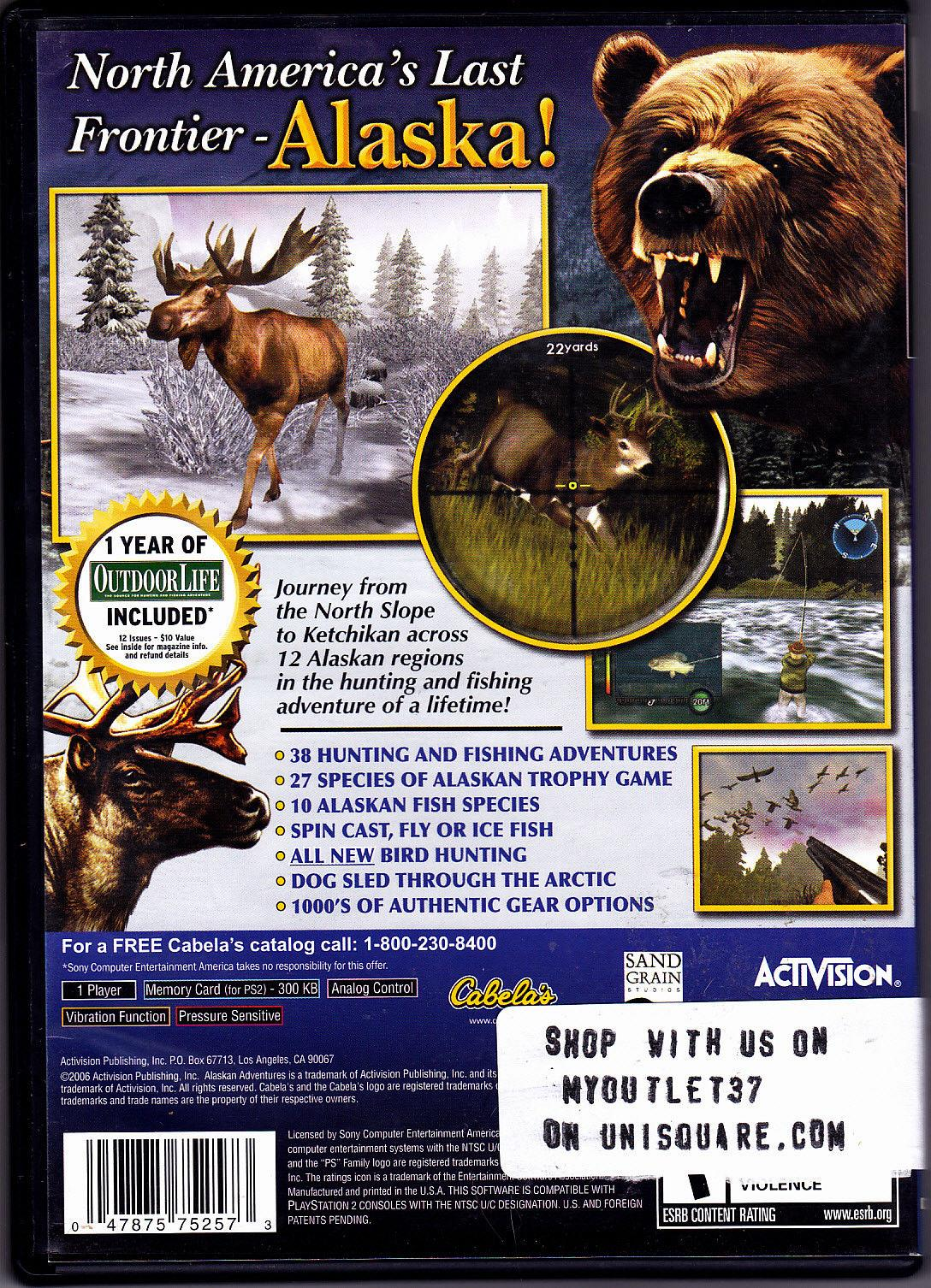 Cabela's Alaskan Adventures - PlayStation 2 Video Game - Good