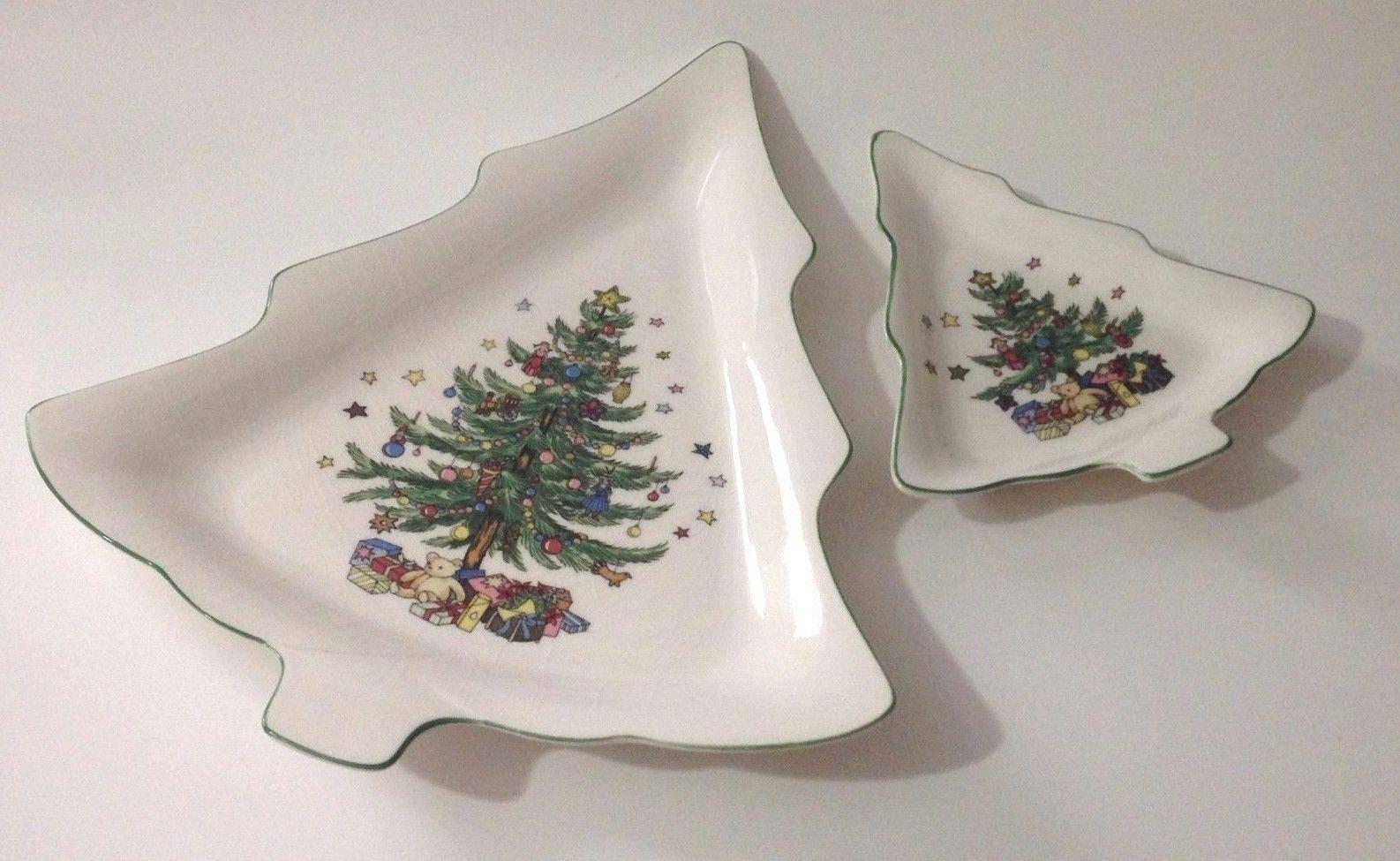 Nikko Christmastime Pattern Serving Candy Dish Set Holiday Dishes ...