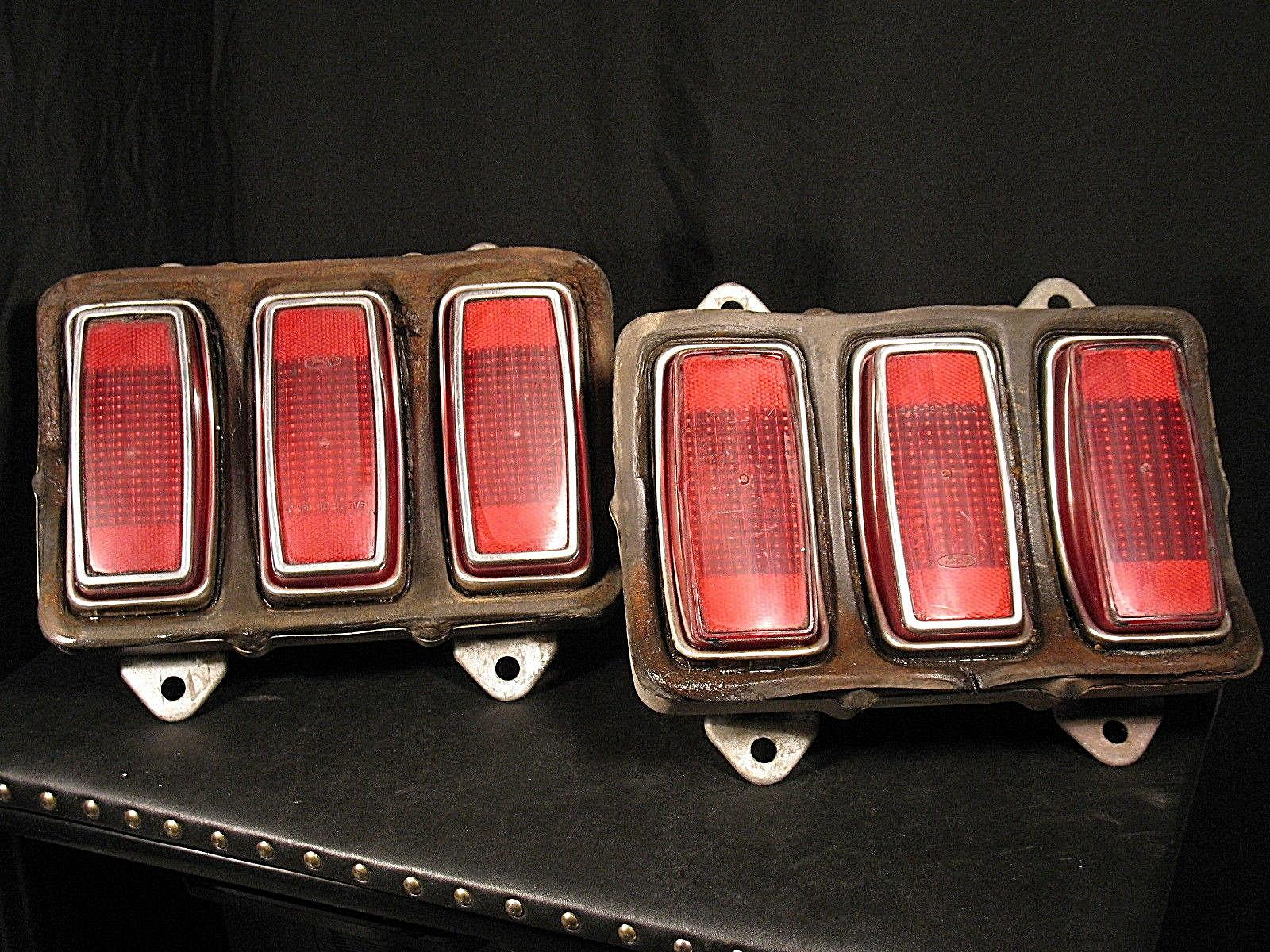1969 ford mustang tail lights mach 1 shelby boss gt original housings lens