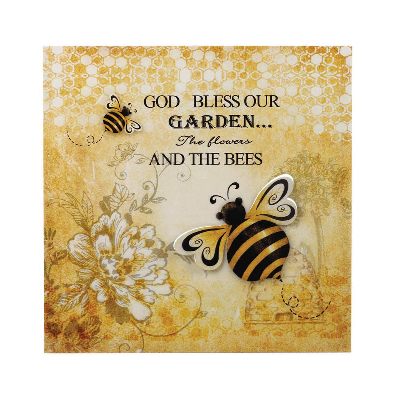 17433U - Bumble Bee Postcard Backdrop 3-D Iron Wall Art For Sale ...